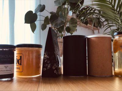 Kawy, herbaty, miody, przetwory, słodycze